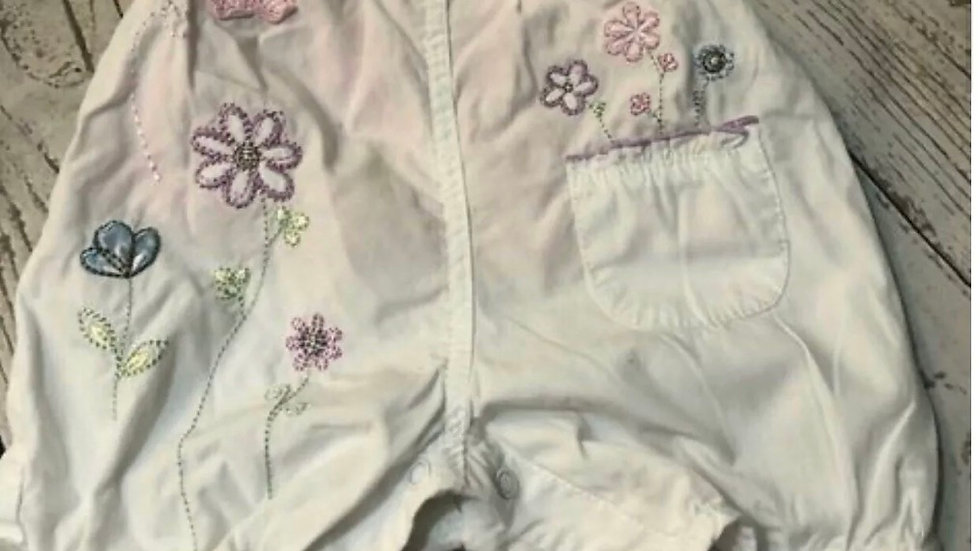 Baby Girls George White Romper Set With Pink Top Age First Size Immaculate