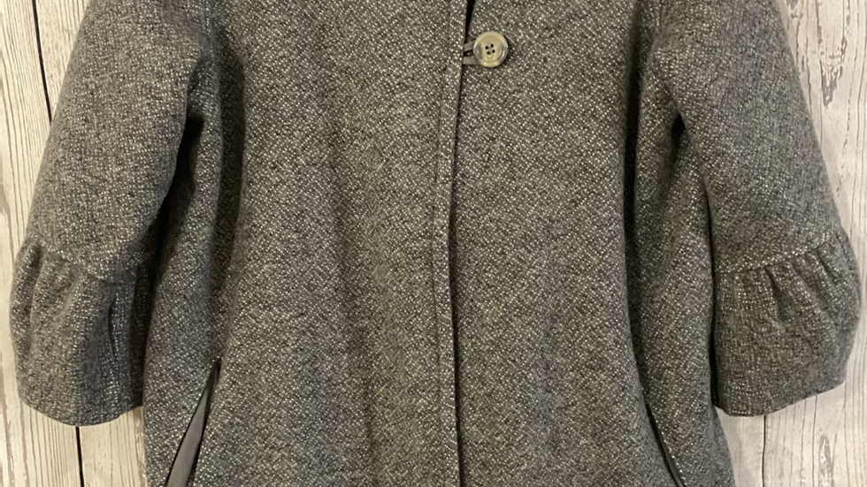 Girls Next Grey Wool Mix Coat/jacket Age 16 Years Immaculate