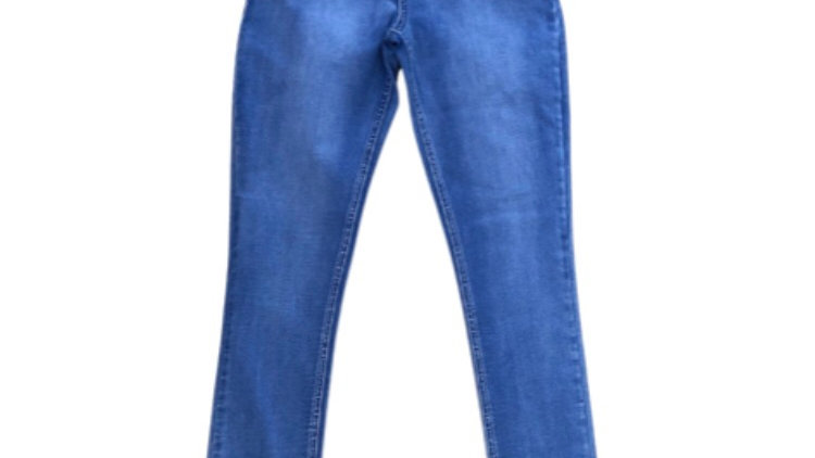 Girls New Look High Waisted Skinny Blue Jeans Age 15 Years Immaculate