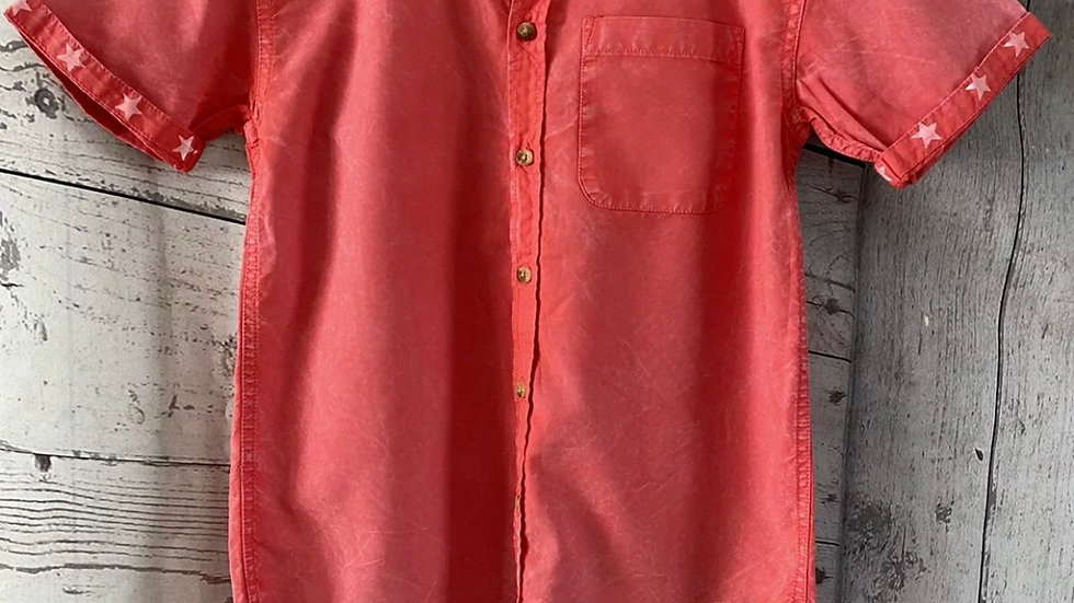 Boys  Pink River Island Short Sleeve Shirt Age 12 Years Immaculate
