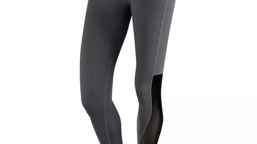 TCA Women's Running Gym Leggings Yoga Waist Bottoms Mesh Luxe Large Grey