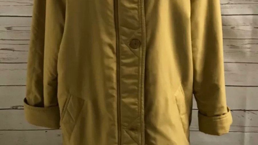 Women's / ladies mustard bonmarche coat size small good condition