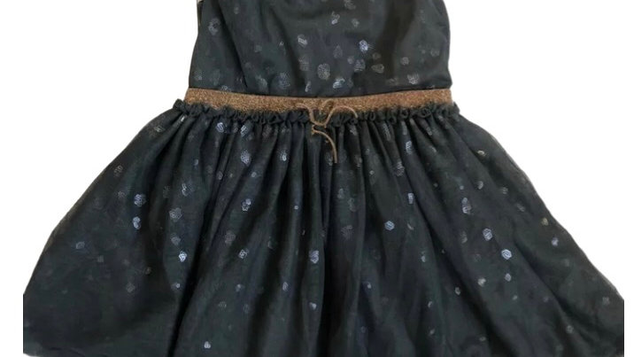 Girls Next Grey Lace & Lined Dress Age 1.5 - 2 Years Immaculate Condition