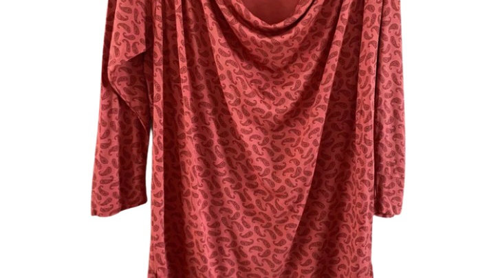 Womens / Ladies French Connection Red 3/4 Sleeve Top Size Small - Good Condition
