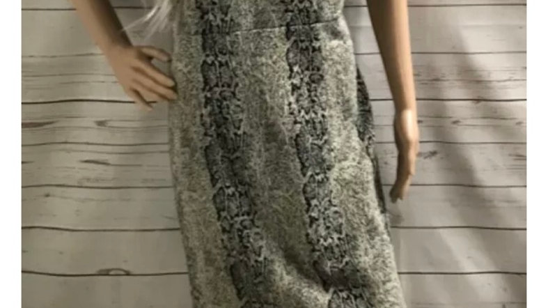 Womens / Ladies TU Snake Print Short Sleeve Dress Size 12 Missing Belt.