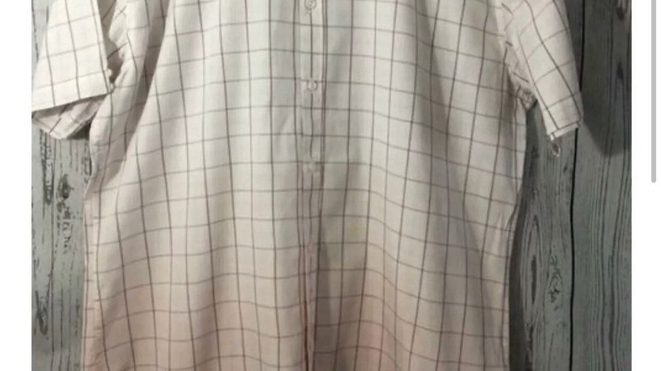 Men's Ben Sherman Pink & White Check Long Sleeve Cotton Shirt Size 3 Large