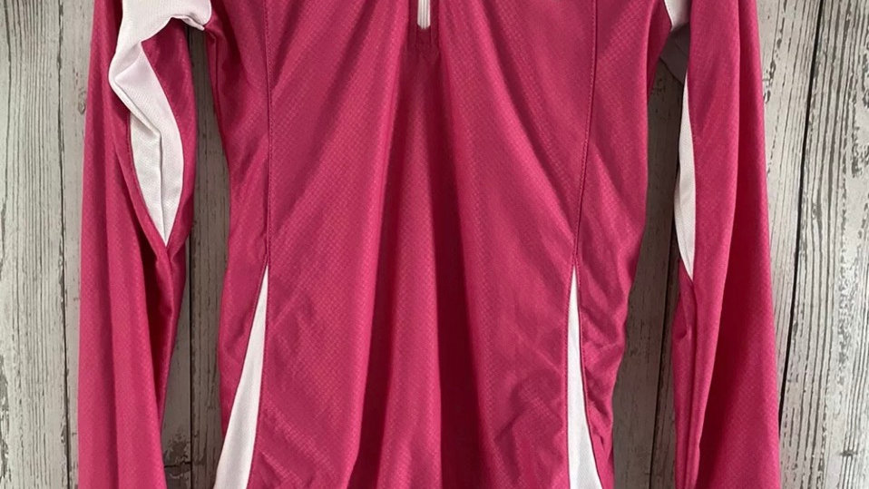 Womens / Ladies Muddy Pink Cycling Long Sleeve Top Size 10 Immaculate