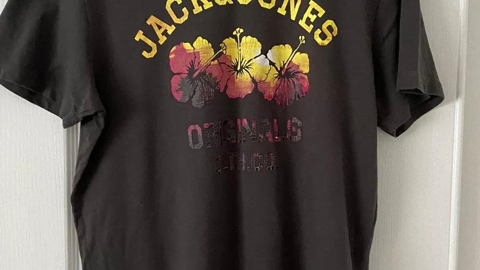 Mens Jack & Jones Printed T-Shirt Size Large Excellent Condition