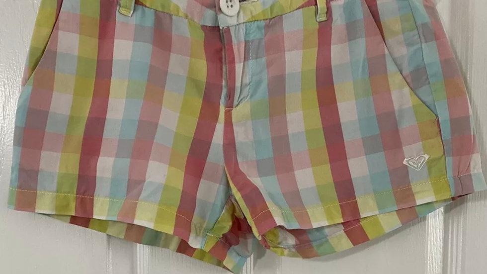 Womens / Ladies Roxy Pastal Check Shorts Size Medium Uk 12 Immaculate