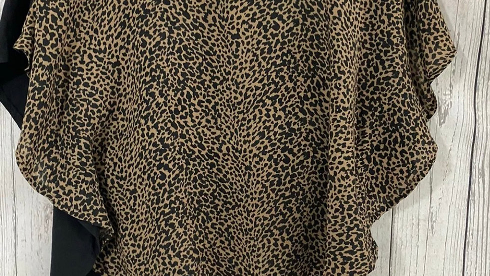 Girls Sophie Leopard Print T-Shirt Blouse Age 14-15 Years Immaculate
