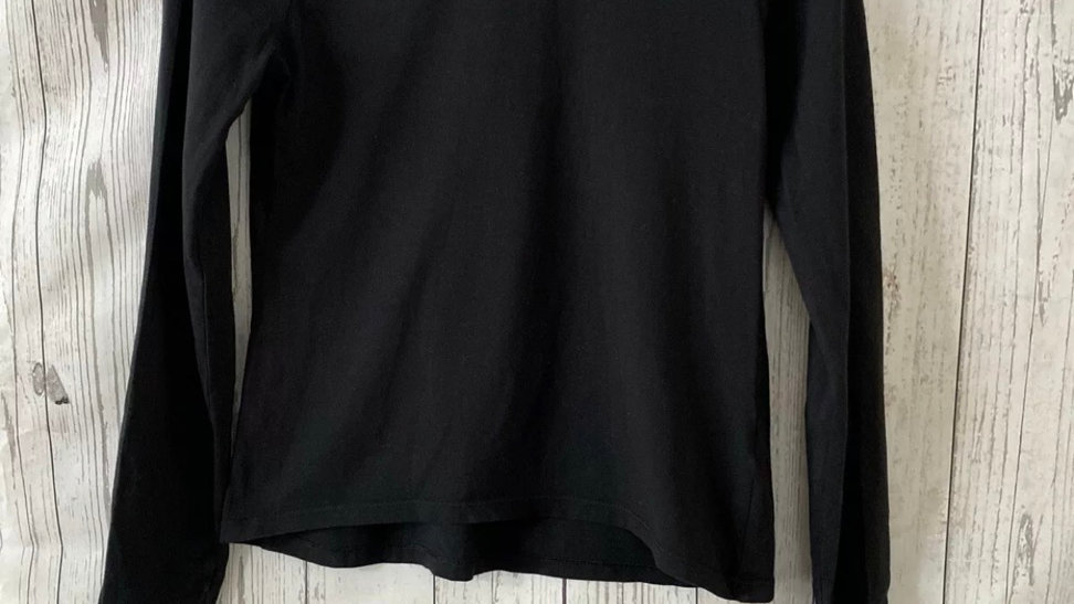 Girls George Plain Black Long Sleeve Top Age 13-14 Years Excellent Condition