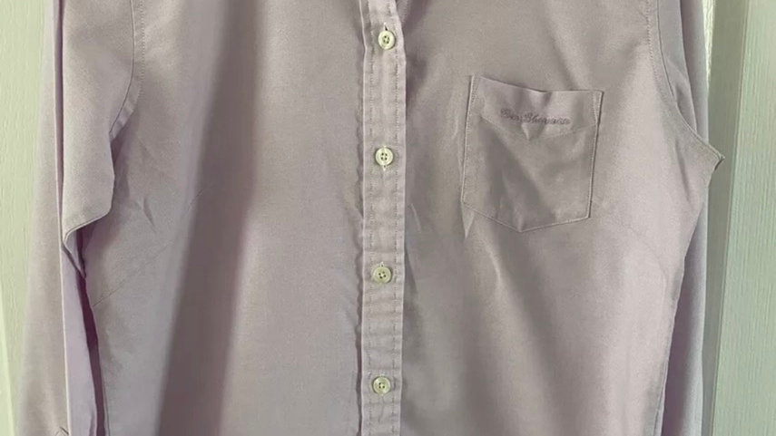 Womens / Ladies Ben Sherman Lilac Long Sleeve Shirt Size 14 Immaculate Condition
