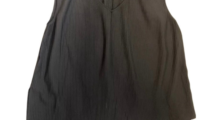 Womens / Ladies Next Black Crinkle Sleeveless Blouse Top Size 14 Immaculate