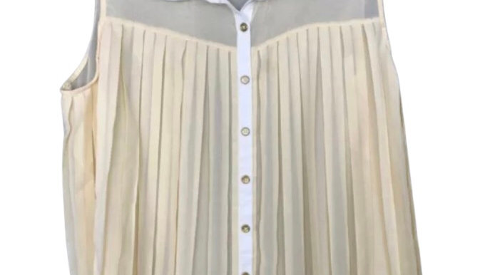 Womens / Ladies Atmosphere Yellow Flow Button Blouse Top Size 18 Immaculate