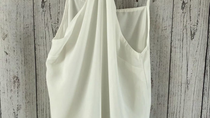 Womens / Ladies Asos White Camisole Vest Blouse Size 8 Immaculate