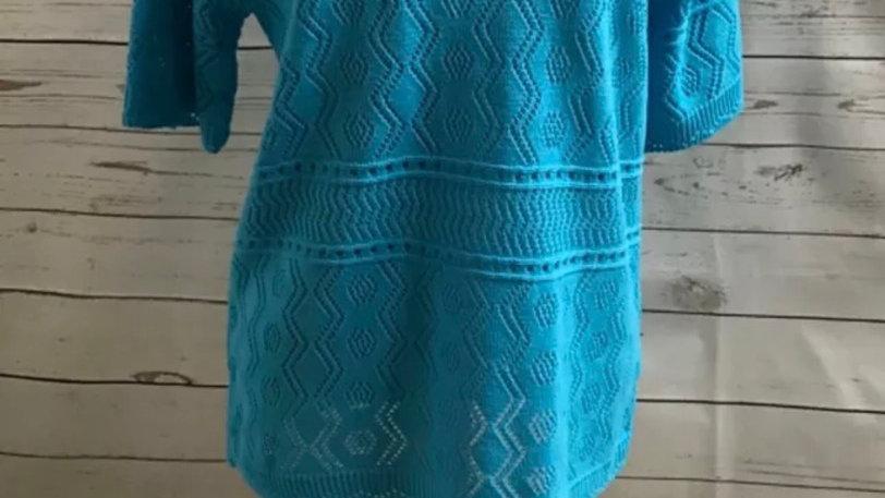 Women's / ladies turquoise blue Glimpse knit jumper size S/M new