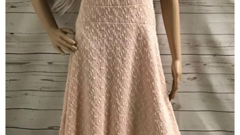 Womens / Ladies Next Pink White Cotton Blend Dress Size 12 Immaculate