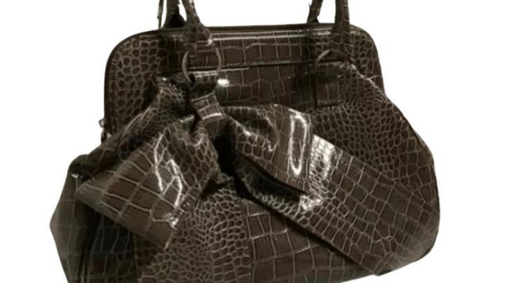 Women's / ladies Claire's accessories PVC snake effect handbag excellent
