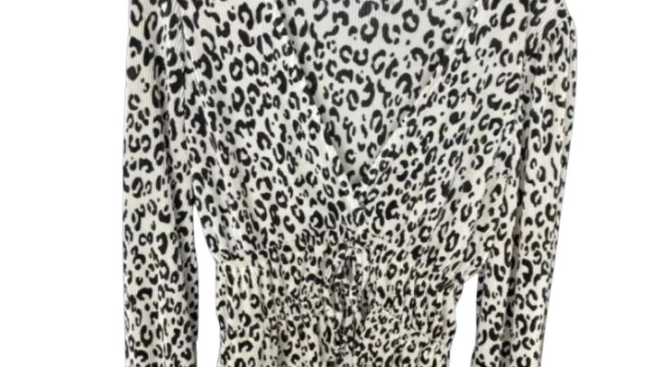 Womens / Ladies Zara Animal Print Blouse Top Size Medium Immaculate