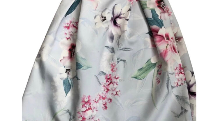 Womens / Ladies Lipsy Of London Blue Floral Skirt Size 12 Excellent Condition
