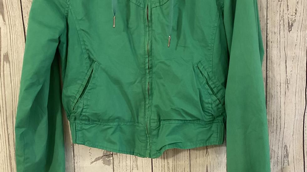 Womens / Ladies Denim & Co Light Green Jacket Size 12 - Excellent Condition