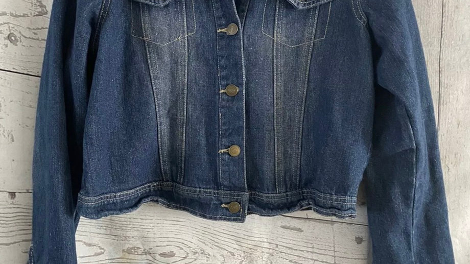 Womens / Ladies Peacocks Blue Denim Jacket Size 14 Immaculate Condition