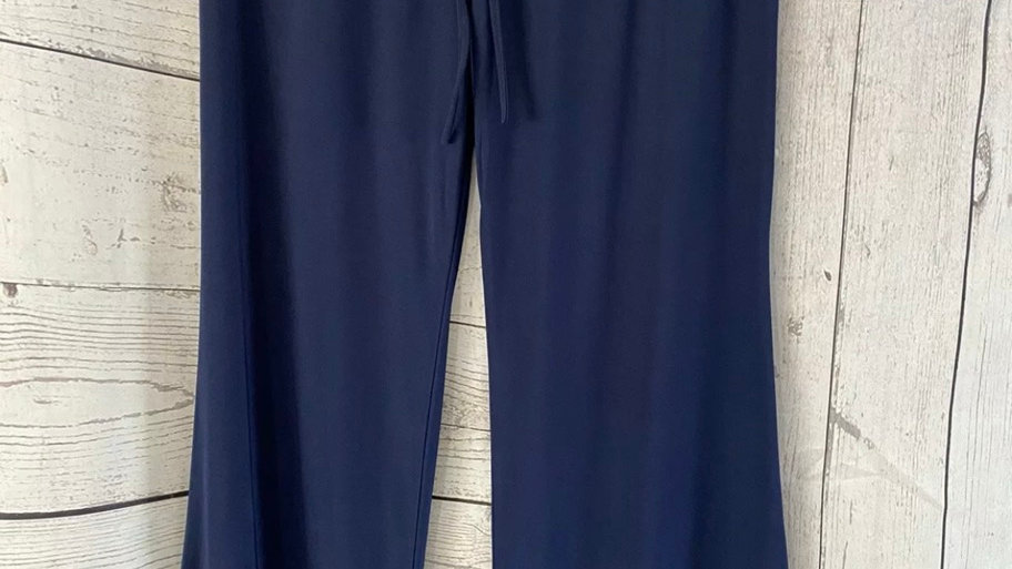 Womens / Ladies Navy Flow Summer Trousers Size S/M New With Tags