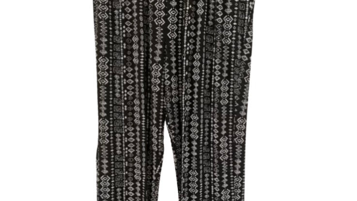 Womens / Ladies Urban Black Aztec Flow Trousers Size M/L  New With Tags