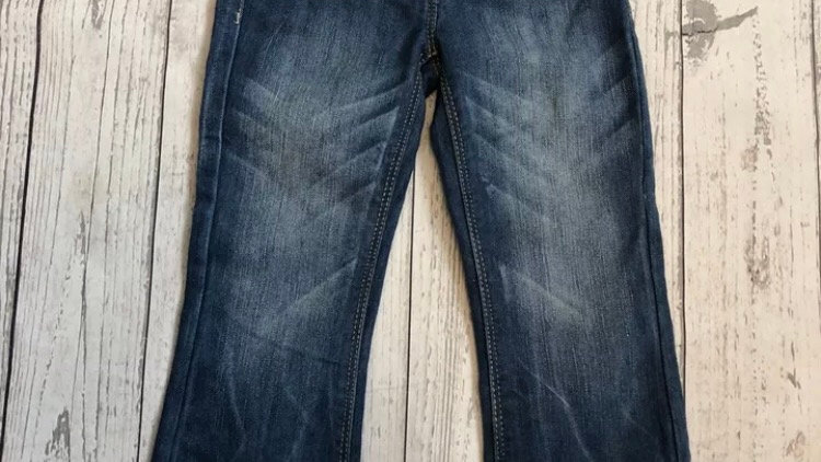 Girls Next Blue Denim Bootcut Jeans Age 4 Years Excellent Condition