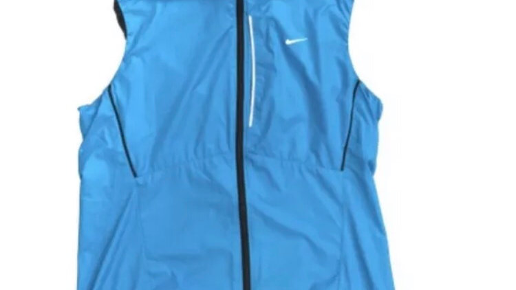 Womens / Ladies Nike Blue Zip Sleeveless Top Size Small Excellent Condition