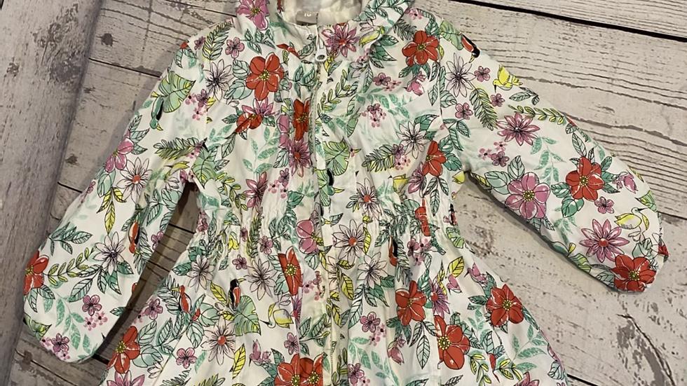 Girls TU Floral Rain Coat Age 1.5 -2 Years Good Condition