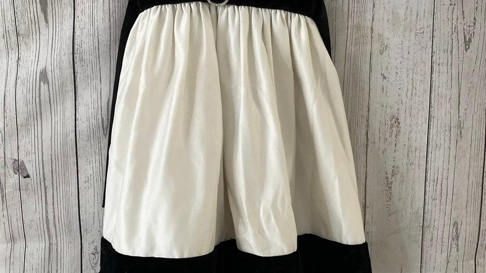 Girls Sugar Plum Black Velevt & Cream Dress Age 4 Years 104cm Immaculate