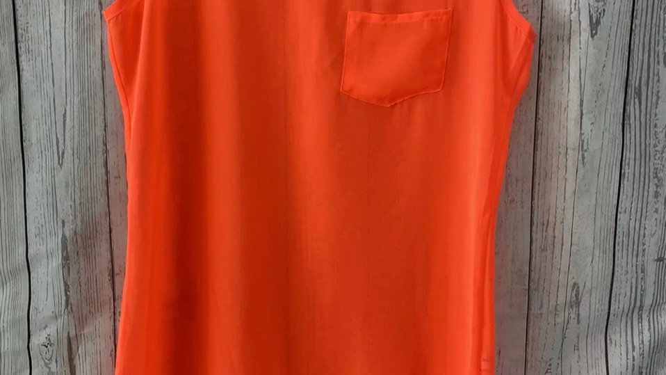 Womens / Ladies Select Neon Orange Vest Summer Top Size 10 Immaculate