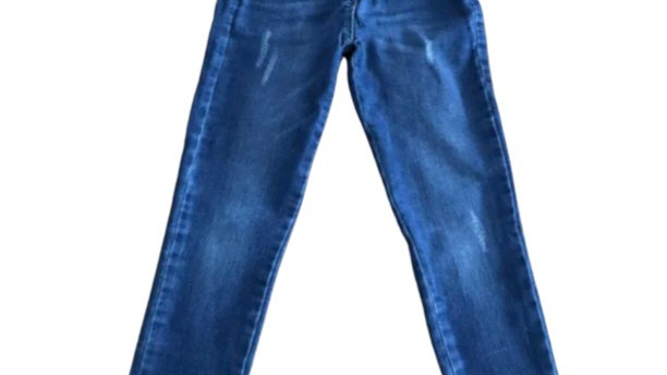 Girls Matalan Blue Ripped Skinny Jeans Age 7 Years Excellent Condition