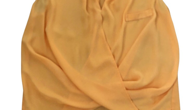 Womens / Ladies River Island Yellow Blouse Top Size 12 Immaculate Condition