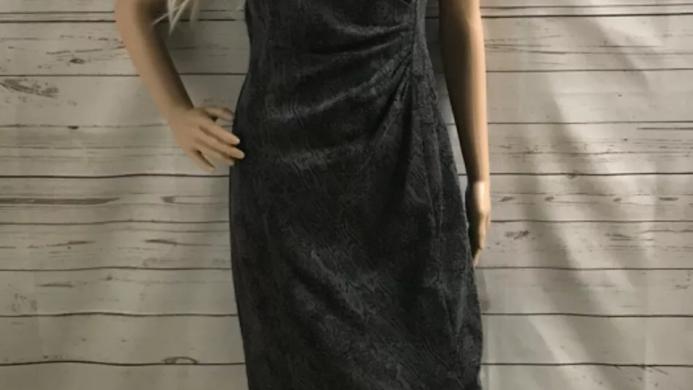 Women's / ladies Grey George dress size 12 excellent condition