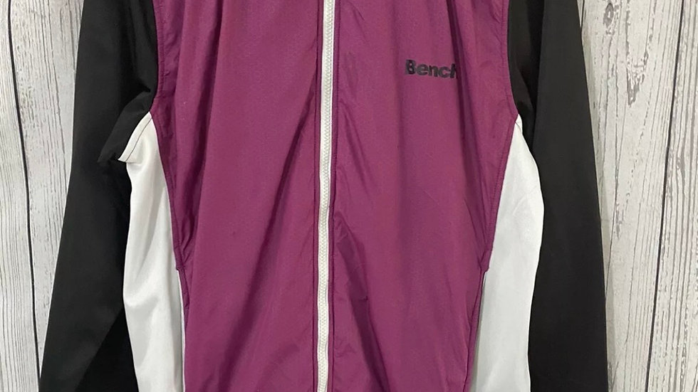 Womens / Ladies Bench Purple Black Long Sleeve Jacket Zip Size Large Uk 14