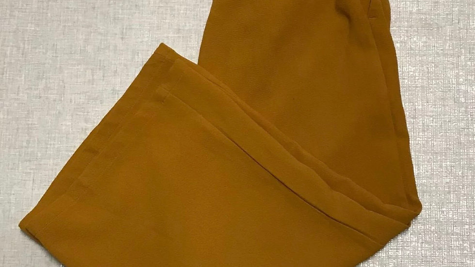 Womens / Ladies Mustard Cropped Flare Trousers Size 8 Immaculate Condition