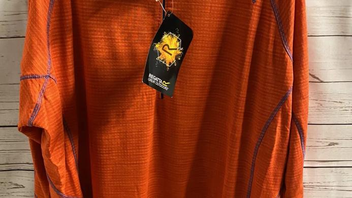 Mens Regatta Stretch Core Yonder Orange Blaze 1/4 Zip Top  Size XXXL