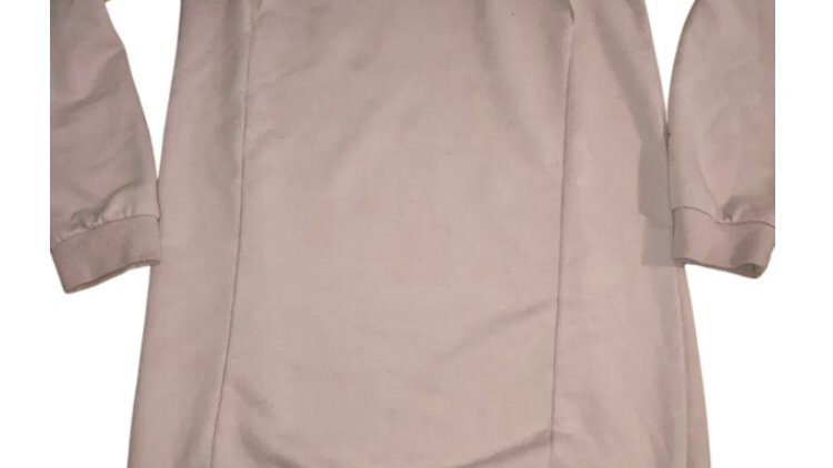 Girls George Pink Long Length Jumper Age 9-10 Years Good Condition