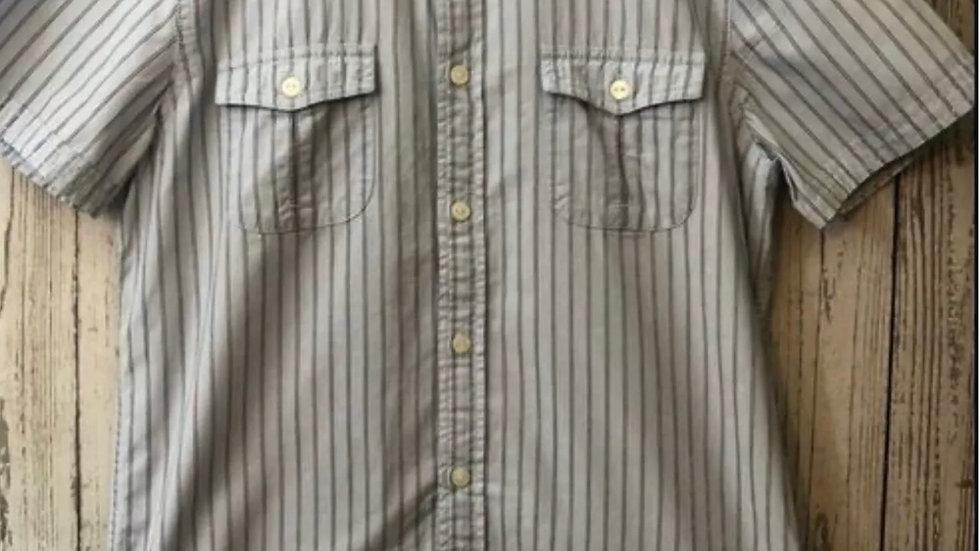 Men' s Debenhams Jasper Conran Blue Stripe Short Sleeve Shirt Size Medium