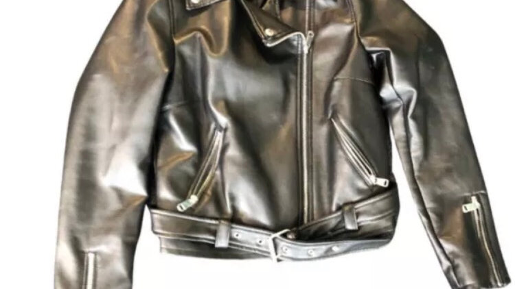Womens / Ladies New Look Black Faux Leather Jacket  Size 10 Excellent Condition
