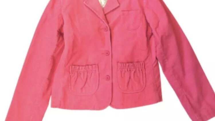 Girls Mini Boden Pink Corded Jacket Age 11-12 Years Immaculate Condition