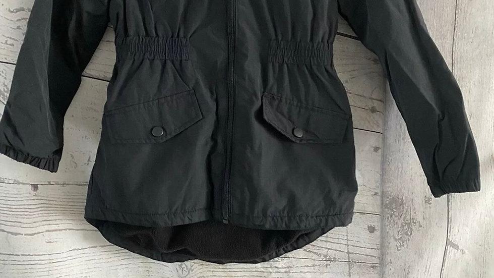 Girls Debenhams Black Coat Age 8 Years Excellent Condition
