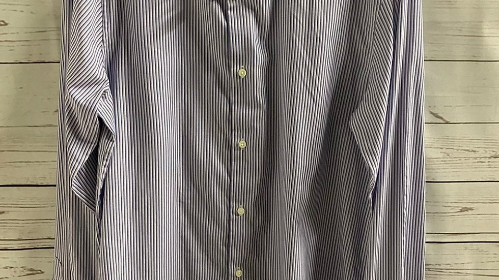 "Mens Next Purple Stripe Long Sleeve Shirt Size 14.5"" Collar 37"" Chest Immaculate"