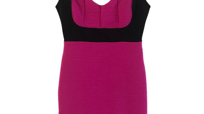 Womens / Ladies River Island Pink Ribbed Bodycon Dress Size 10 Immaculate