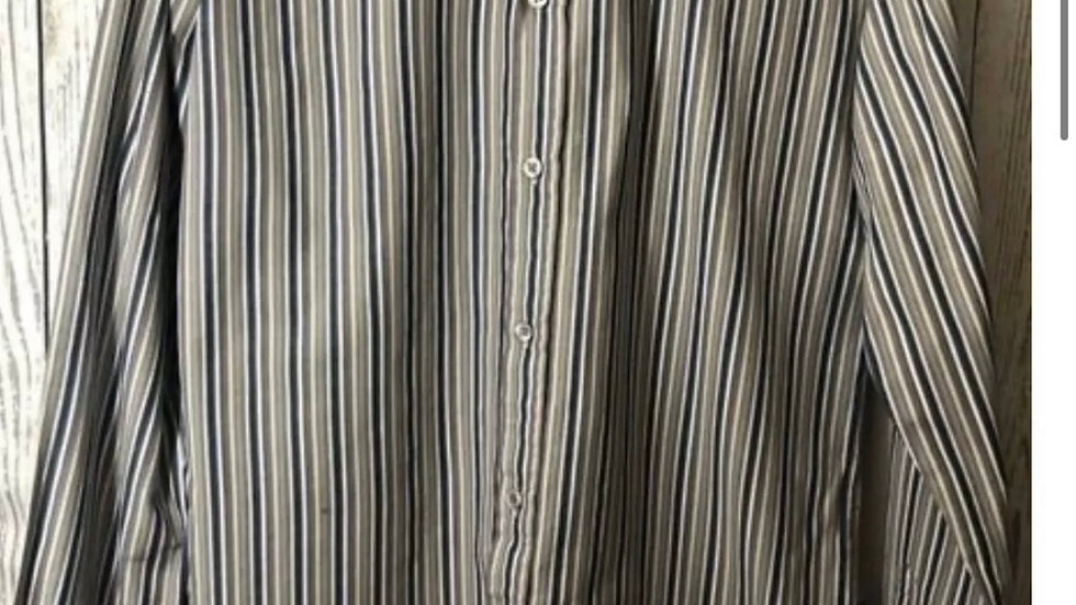 Men's French Connection Long Sleeve Stripe Shirt Size Small -Multi coloured