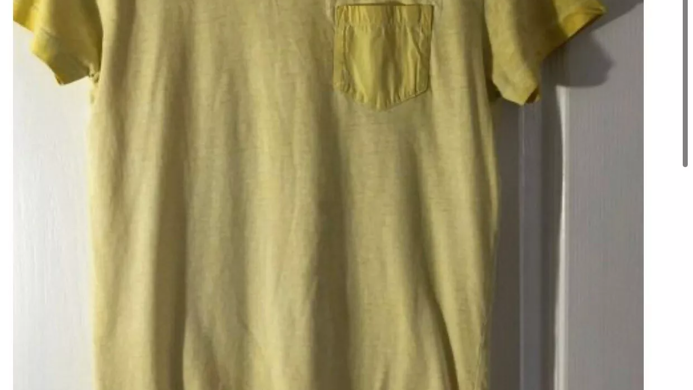 Boys Next Plain Yellow Short Sleeve T-Shirt Age 12 Years Excellent Condition