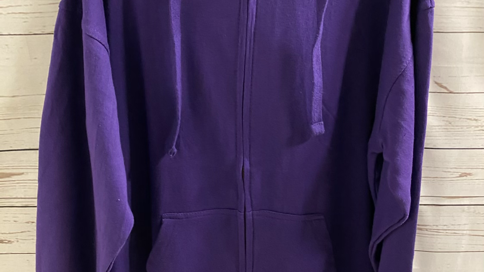Womens / Ladies Purple Full Zip Hoodie  Jacket Size Large NEW