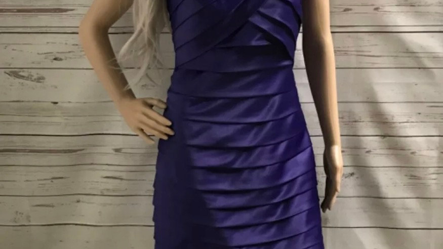 Women's / ladies Purple new look strapless dress size14 excellent condition
